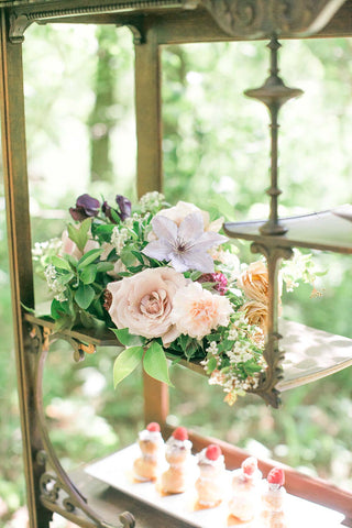 wedding styled shoot with flowers