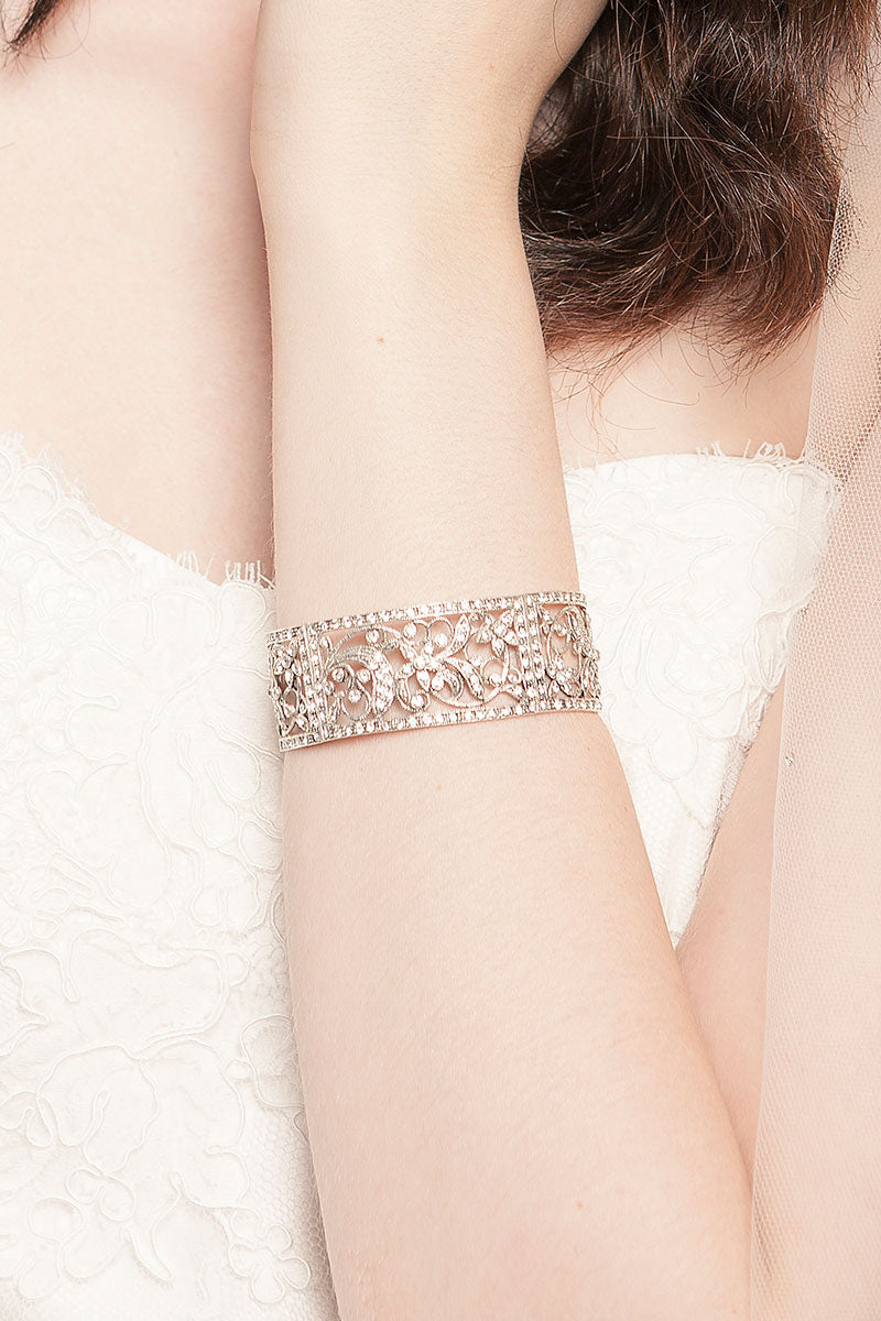 Vintage Filigree Cuff Bracelet - Sample Sale