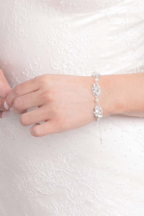 Pear Shape Wedding Bracelet