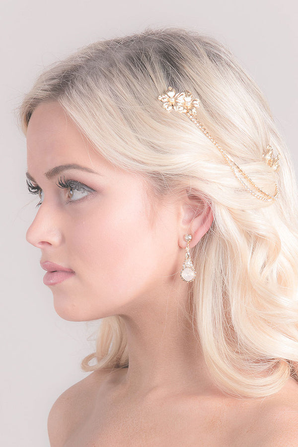Blossom Chain Drape Headpiece - sample sale
