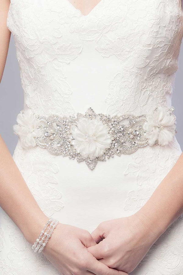 Cenzia Bridal Sash-Sample Sale