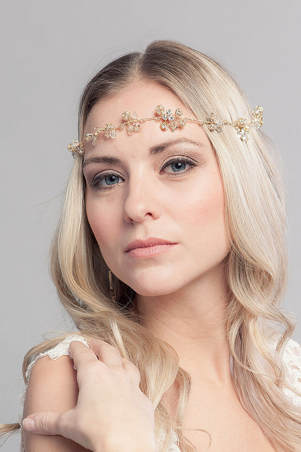 Cordova Gold Hairvine Headpiece - Sample Sale