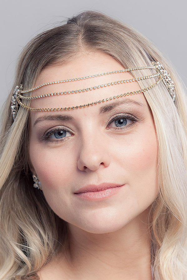 Emery Draped Chain Headpiece - Sample Sale