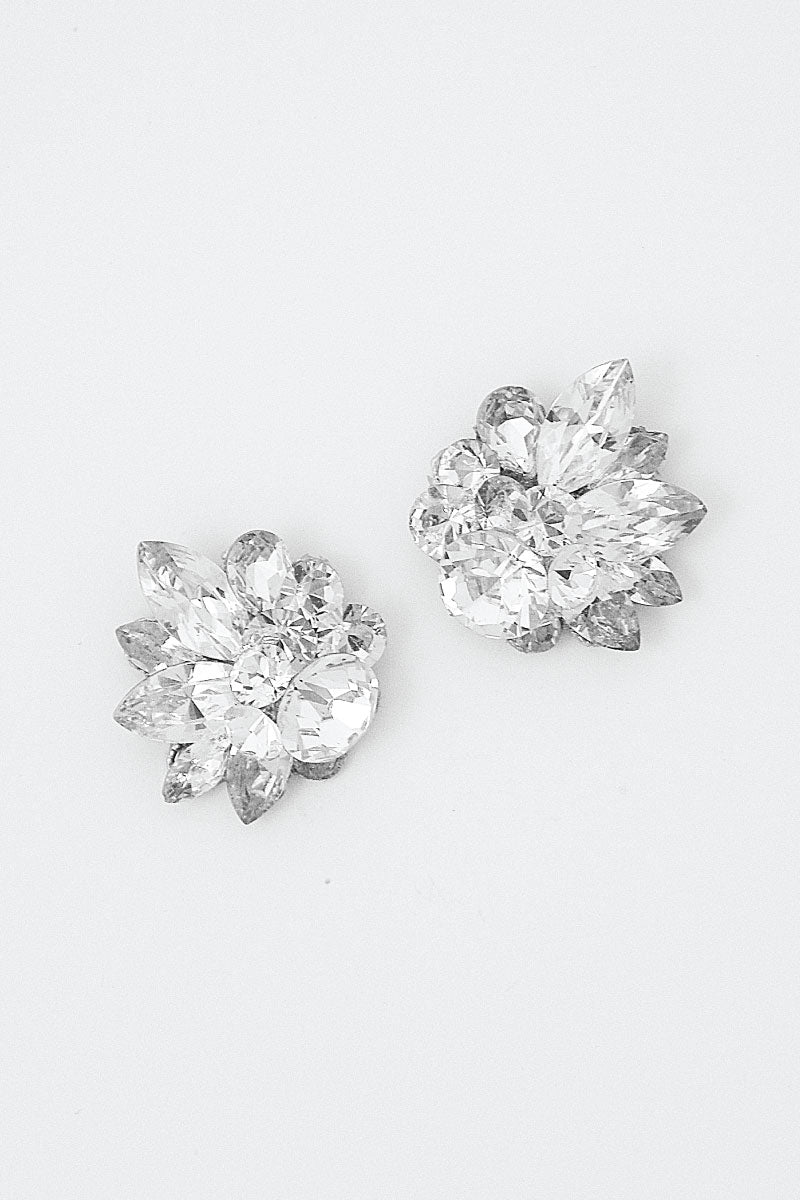 Crystal bridal wedding stud.