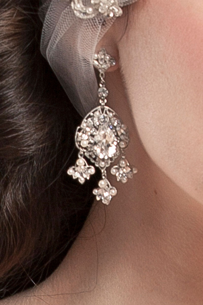 Filigree Statement Drop Earrings - Sample Sale