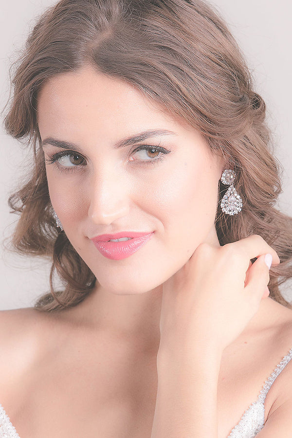Statement CZ Teardrop Earrings - Sample Sale