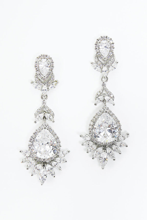 Marquise Cubic Zirconia Bridal Earrings