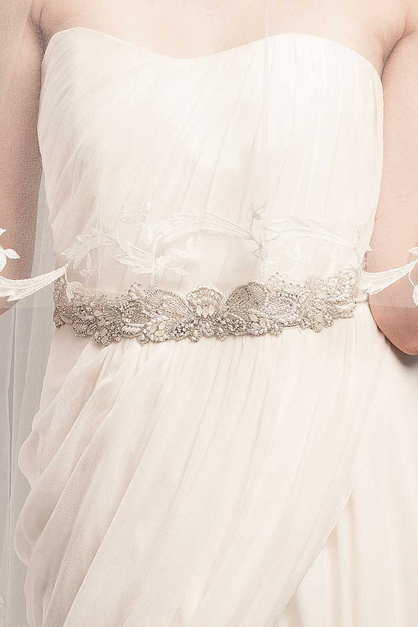 Europa Bridal Sash-Sample Sale