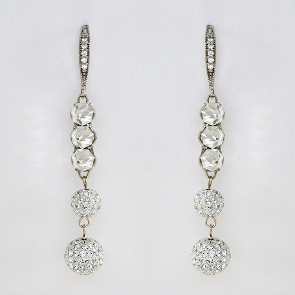 Edgy Long Dangle Bridal Earrings