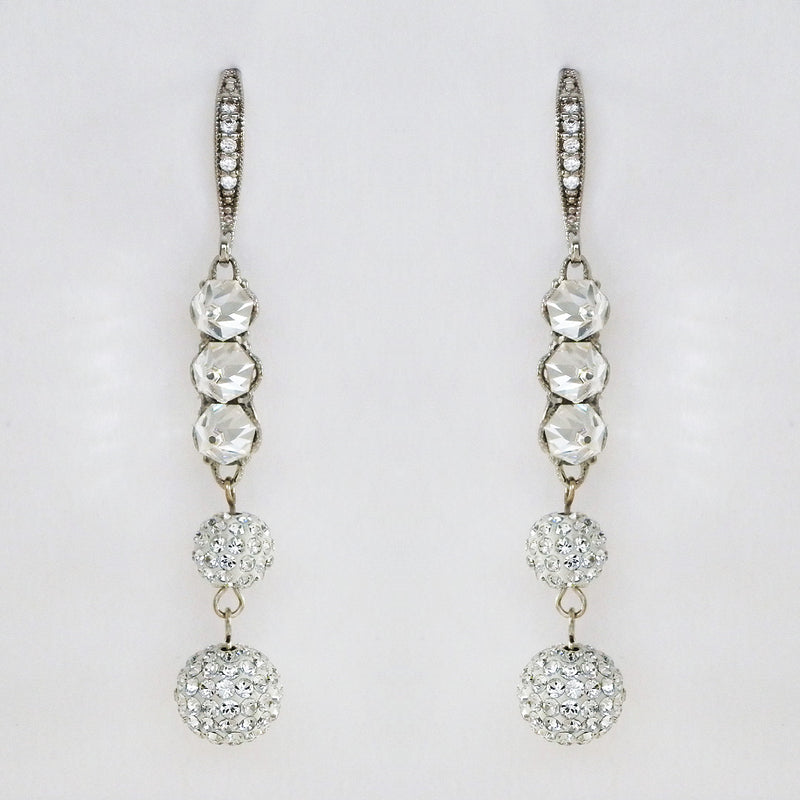 E0071 Edgy Long Dangle Bridal Earrings