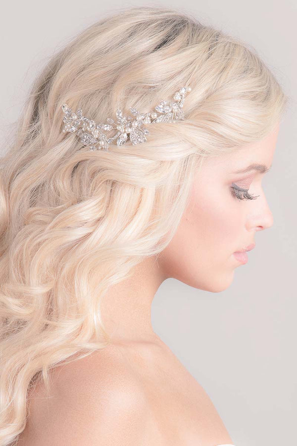 Maeve Filigree Pearl Bridal Hair Vine