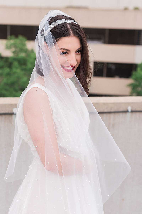 Pandora Pearl Fingertip Wedding Veil