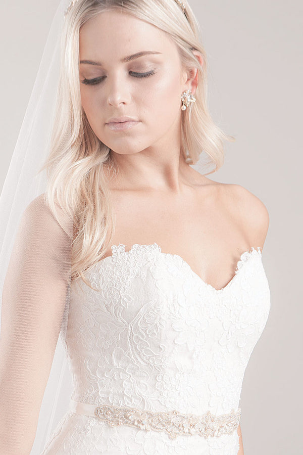 Trista Bridal Sash-Sample Sale