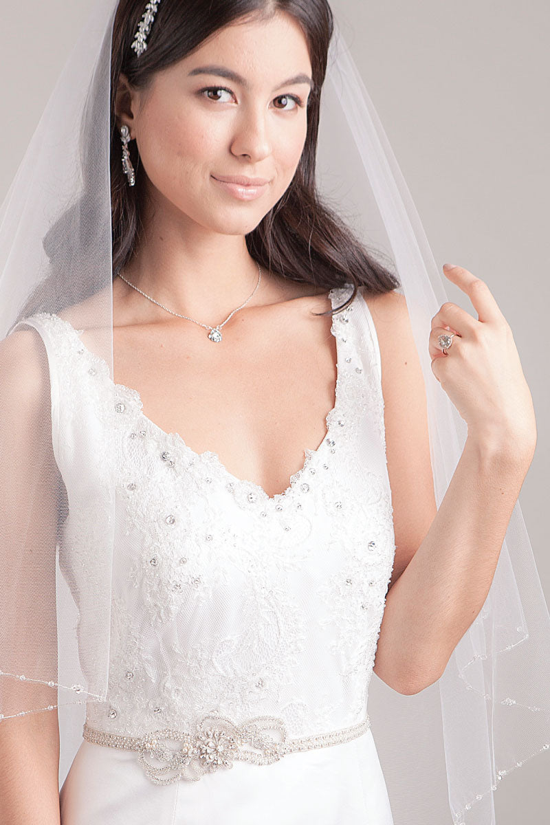 Lourdes Bridal Sash - Sample Sale