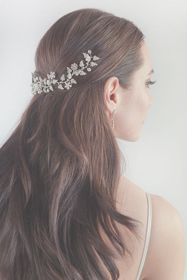 Verity Floral wedding Hair Vine-Crown