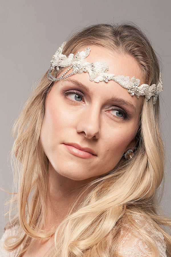 Breanna Side Chain Bridal Headpiece - Sample Sale