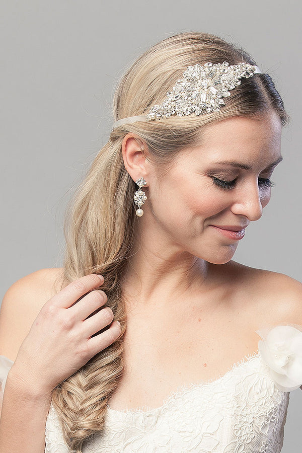 Olympia Wedding Hair Ribbon - Sample Sale