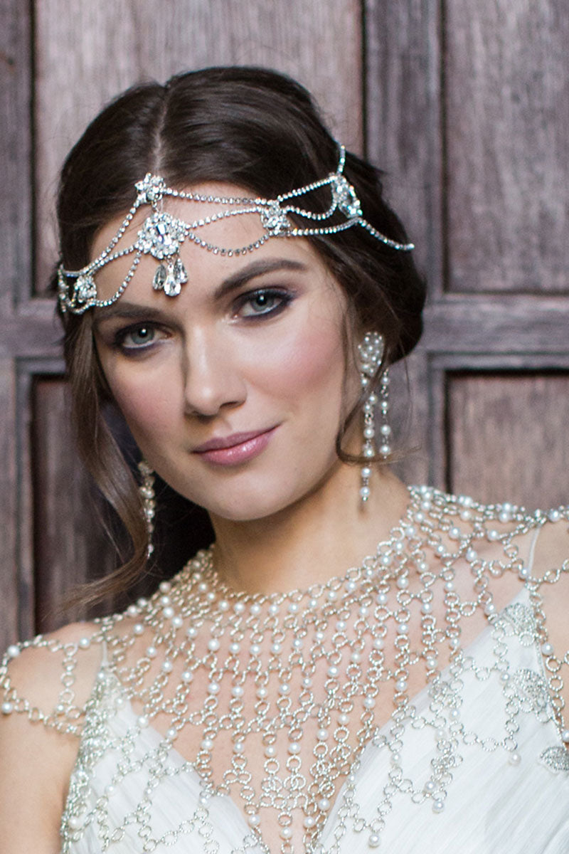 Lissa Bridal Halo Headpiece - Sample Sale