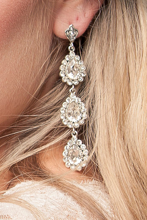 Triple Pear Drop Earrings - Sample Sale