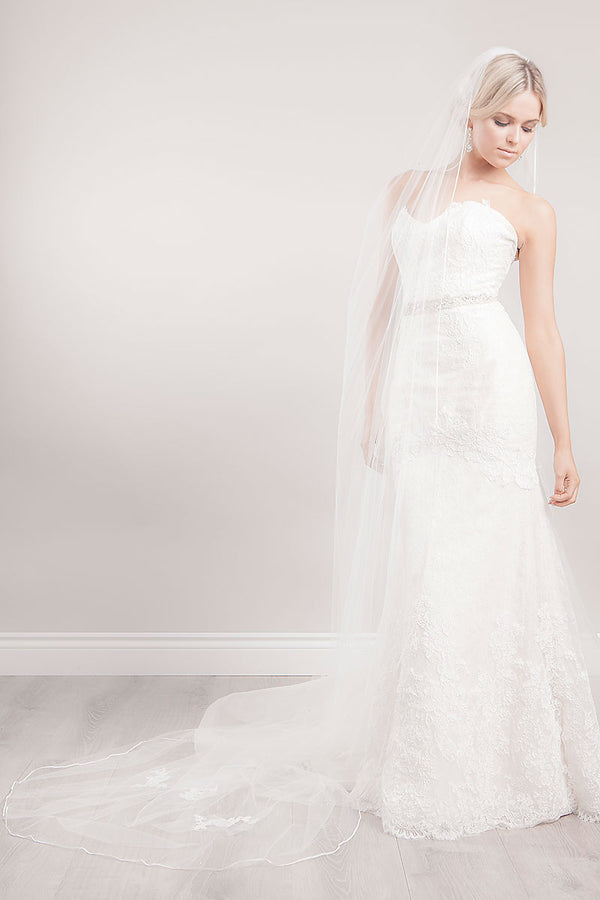 Vivian Chapel Veil - Sample Sale
