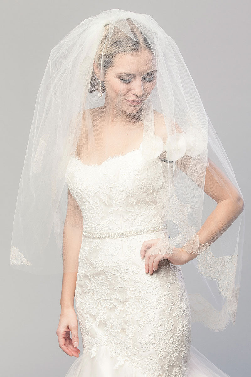 Coco Chantilly Fingertip Veil- Sample Sale