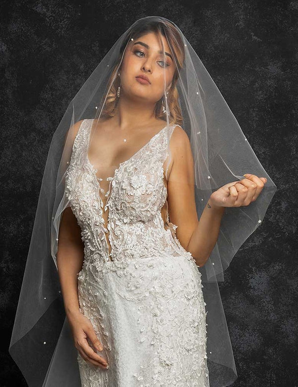 Alegra Pearl Cathedral Veil