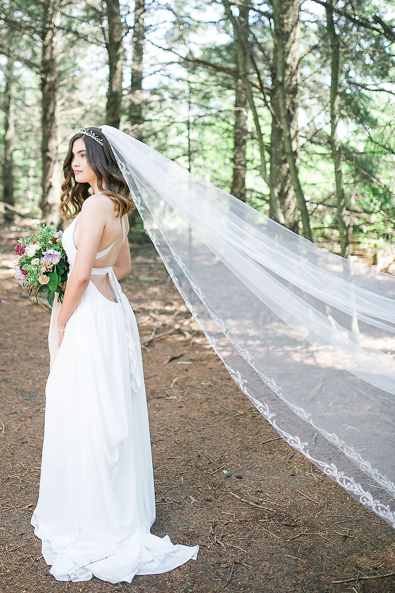 Theia Cathedral Veil - Sample Sale