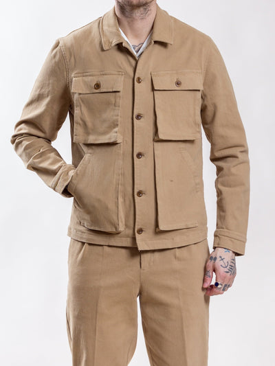 Uncle Bright, Jean Twill, Khaki, overshirt ?id=28286082220193