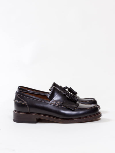 Uncle Bright, Fringe Loafer, Rois Black/ Natural