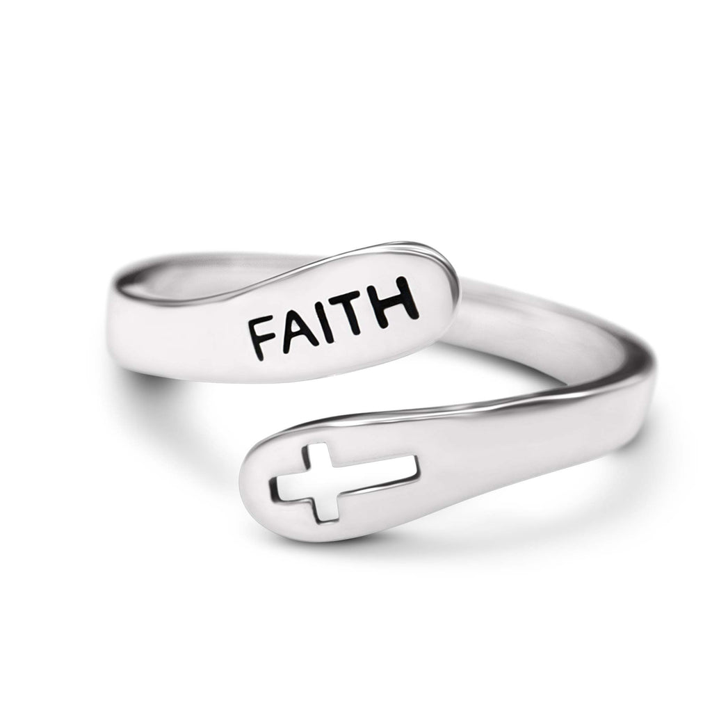 Sterling Silver Faith Ring by ExtraFaith™