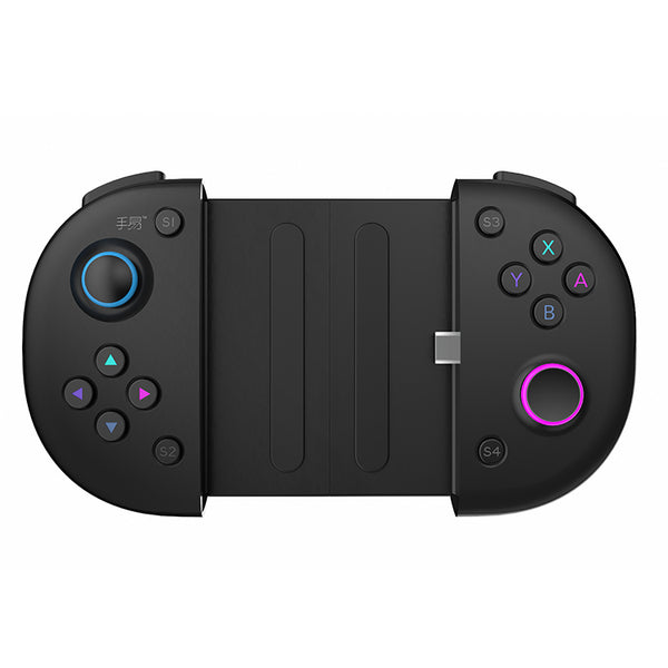 2 in 1 Mobile Game Controller, Upgraded Version of Mobile Game Game Controller, Type-C Directly Connected to smartphone, Expandable Game Controller, Suitable for 3.5-6.5 Inches-Black