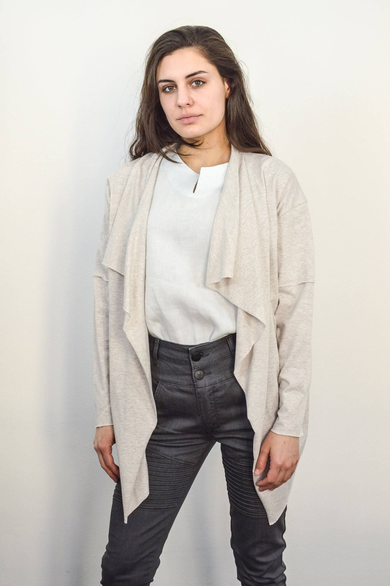 Charlie Cotton Cardigan beige