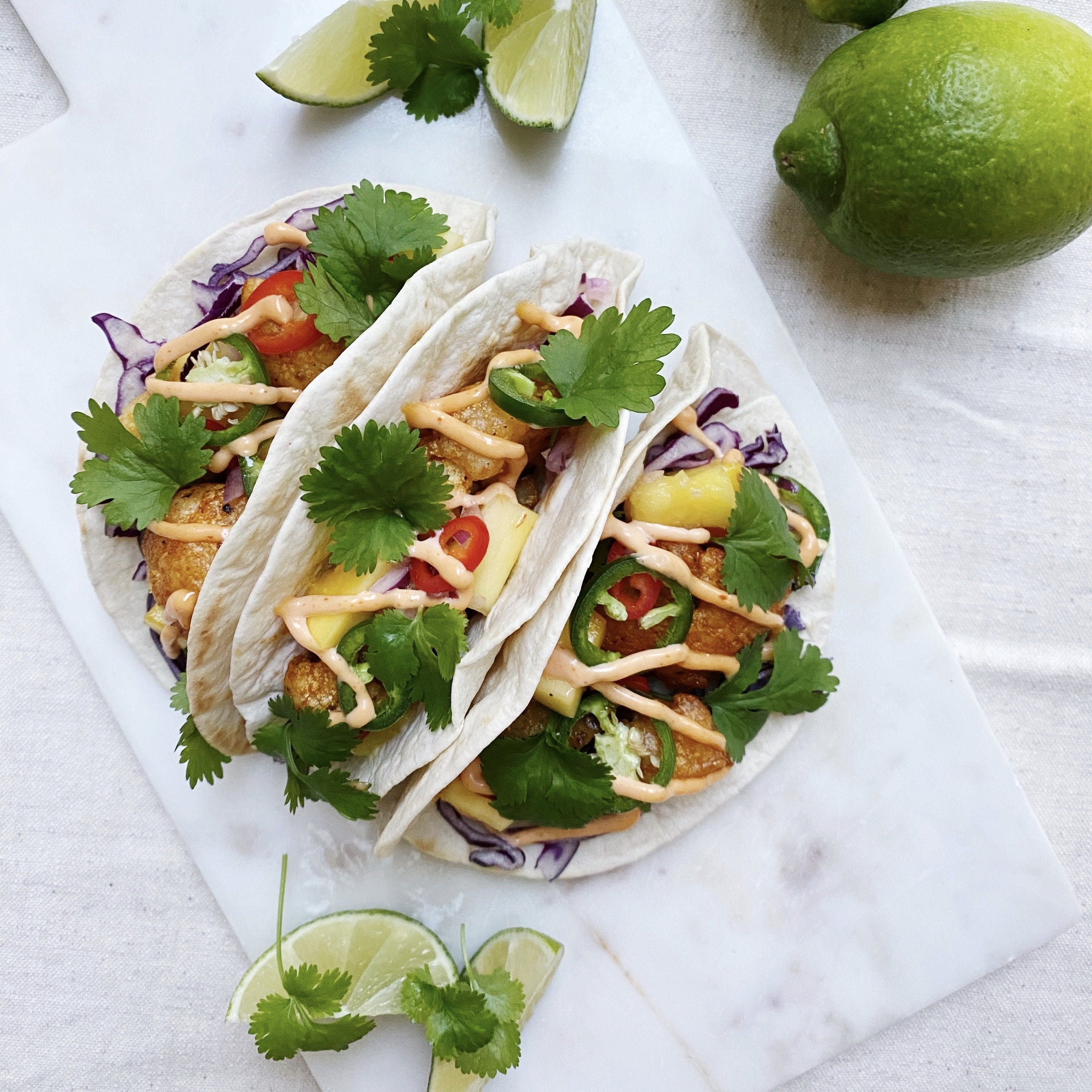 BUFFALO CAULIFLOWER TACO