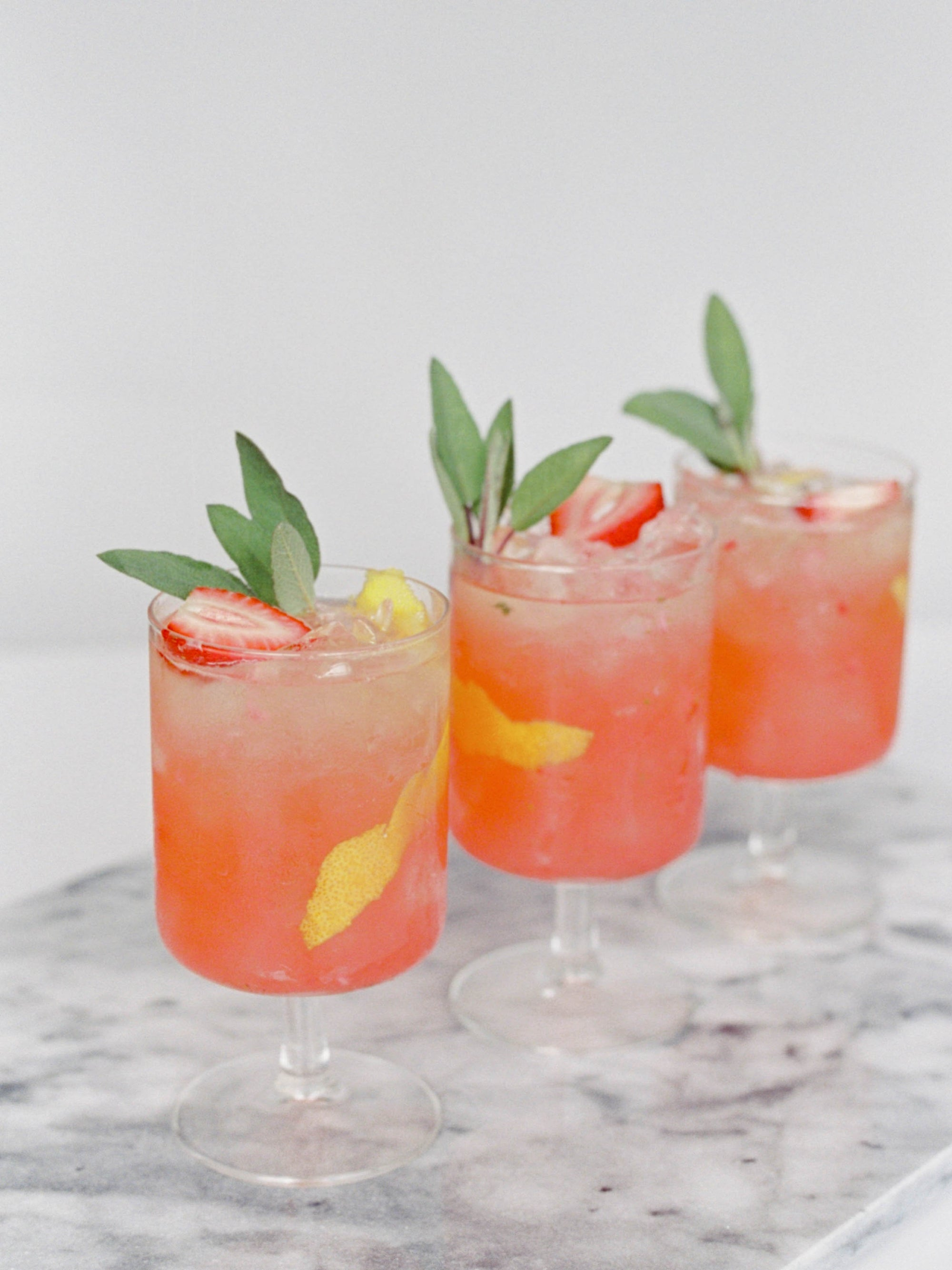 The Drink You'll Crave All Summer: Strawberry, Rhubarb & Vanilla Collins