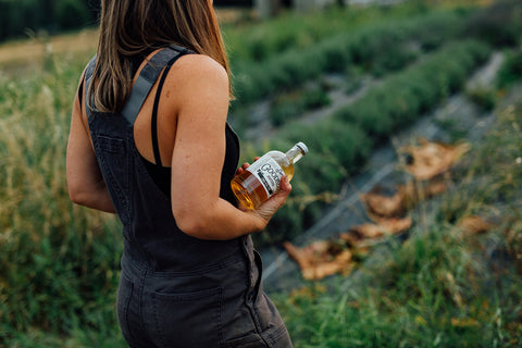 Farmer in field at Simple Goodness Cocktail Farm