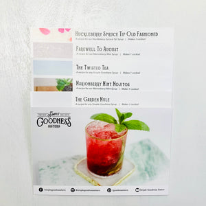 Recipe Cards for Berry Syrups- bundle of 5