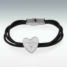 Load image into Gallery viewer, Heart Charm Bracelet - Cinerary Jewelry