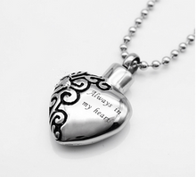 Load image into Gallery viewer, Funerary Heart Pendant Love