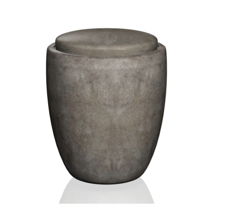 Gray Concrete Urn
