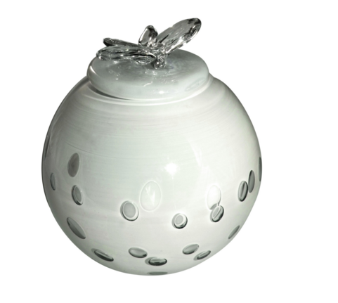 Glass urn WHITE