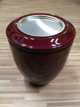 Load image into Gallery viewer, Metal Urn SAMIA Bordeaux