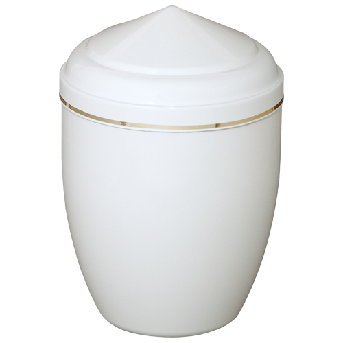 Urn Metal MANDALAY White