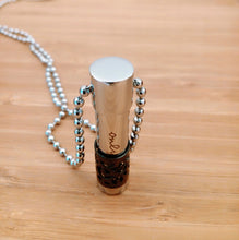Load image into Gallery viewer, Black Cylinder Pendant Urn