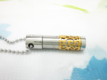 Load image into Gallery viewer, Urn Gold Cylinder Pendant