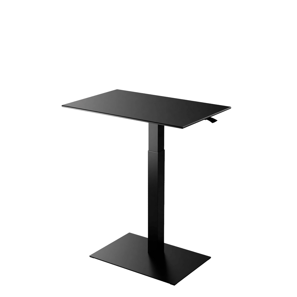 Height adjustable desk Mahtuva L  Black is good choice for remote workers by Selkastore