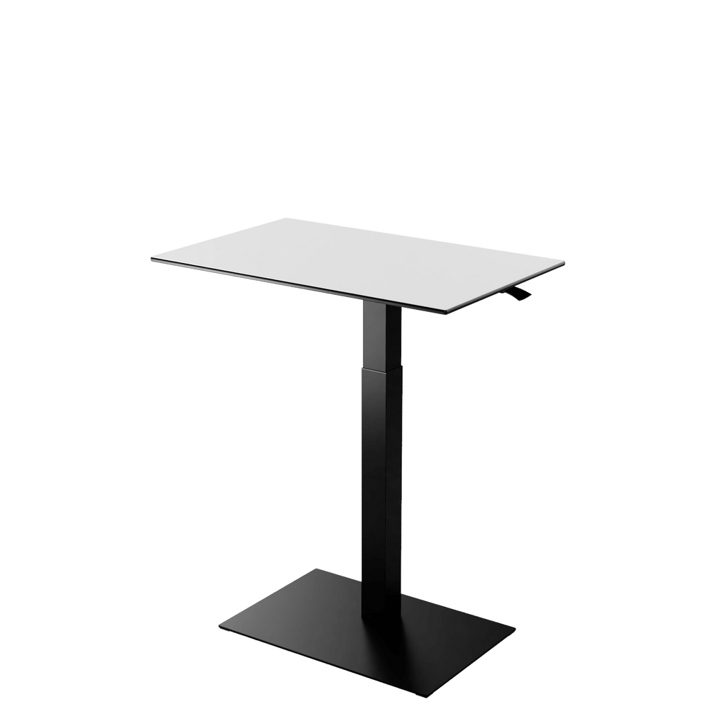 Height adjustable desk Mahtuva L Blackwhite with Black base is good choice for remote workers by Selkastore