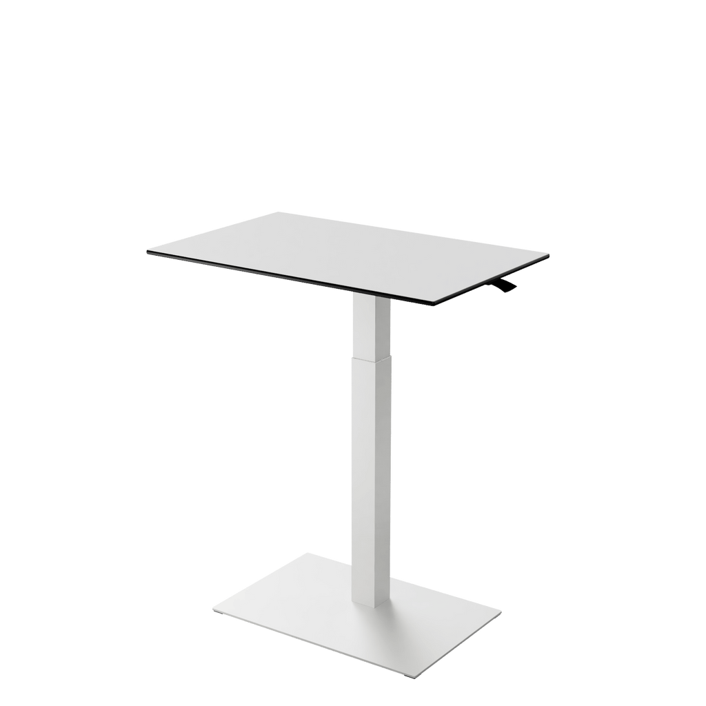 Height adjustable desk Mahtuva L WhiteBlack with White base is good choice for remote workers by Selkastore