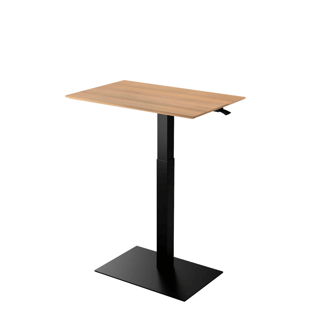 Height adjustable desk Mahtuva L Oak with Black base is good choice for remote workers by Selkastore