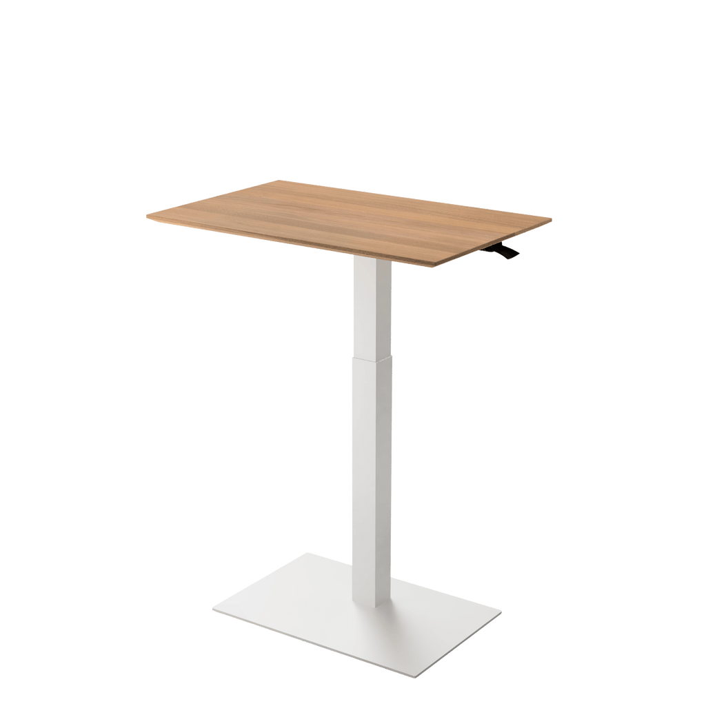 Height adjustable desk Mahtuva L Oak with White base is good choice for remote workers by Selkastore
