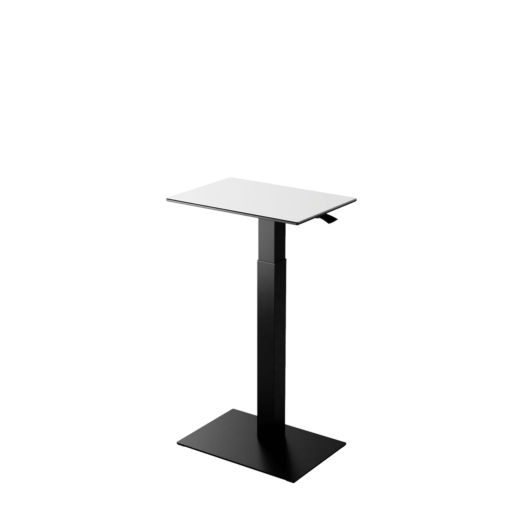 Height adjustable desk Mahtuva S Blackwhite with black base is good choice for remote workers by Selkastore